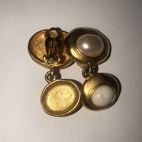 Givenchy Jewelry - Vintage Givenchy Small Goldtone Clip On earrings